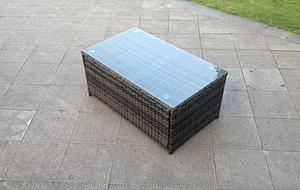 Rectangle rattan coffee table patio outdoor garden furniture Grey Brown Black