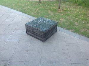 Rattan square coffee table Outdoor Garden Furniture patio furniture Grey Brown Black